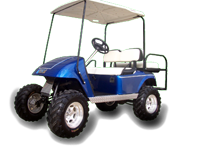 Custom Wheels and Tires for your golf carts