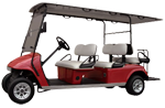 Capistrano Golf Cars 6 Passenger Red Limo Golf Carts