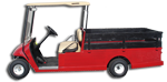 Capistrano Golf Cars Red Utility Cart